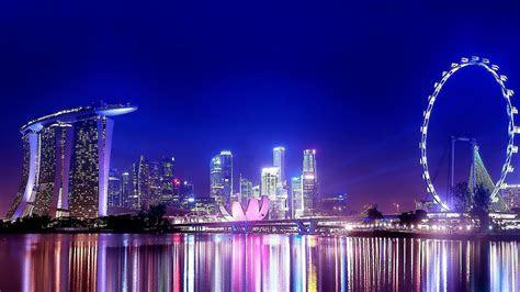 Singapore night view wallpaper   (134600)