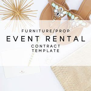 Furniture   Prop Event Rental Contract Template from The