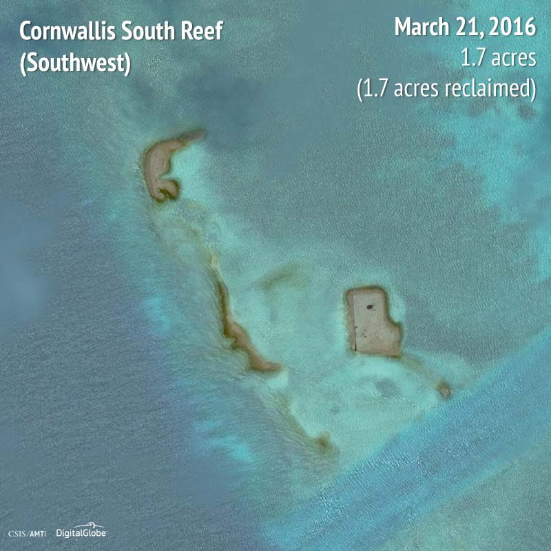 Cornwallis South Reef (Southwest) 2016 | 1.7 acres reclaimed