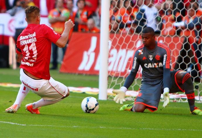 Rafael Moura Internacional Felipe Flamengo Estádio Beira-Rio (Foto: Agência Getty Images)