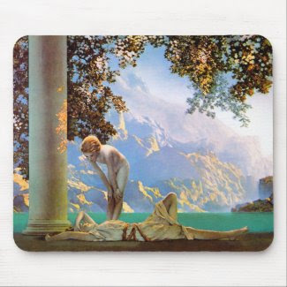 Daybreak - by Maxfield Parrish mousepad