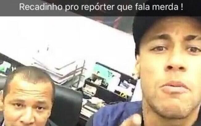 Neymar xinga jornalista em rede social