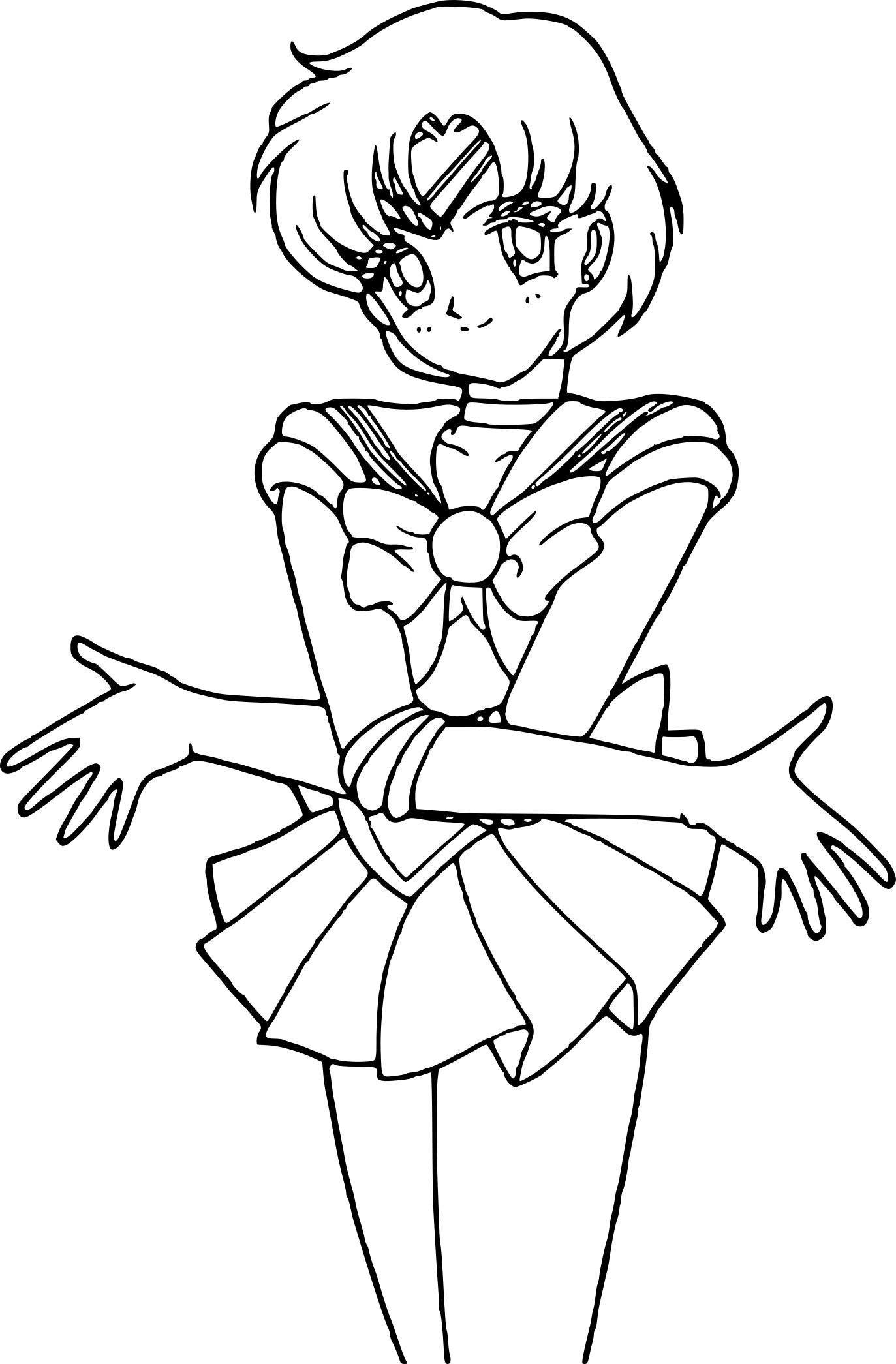 Coloriage Sailor Mercury Crystal à Imprimer Gratuit