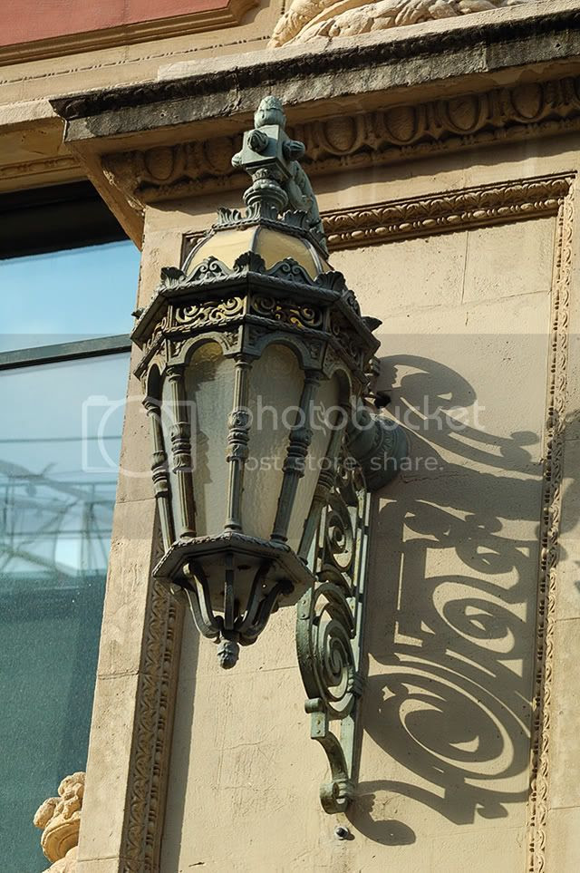 The Art Nouveau Lamp in Barcelona, Europe [enlarge]