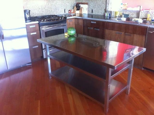 Stainless Steel Kitchen Island Cart - IKEA Hackers - IKEA ...