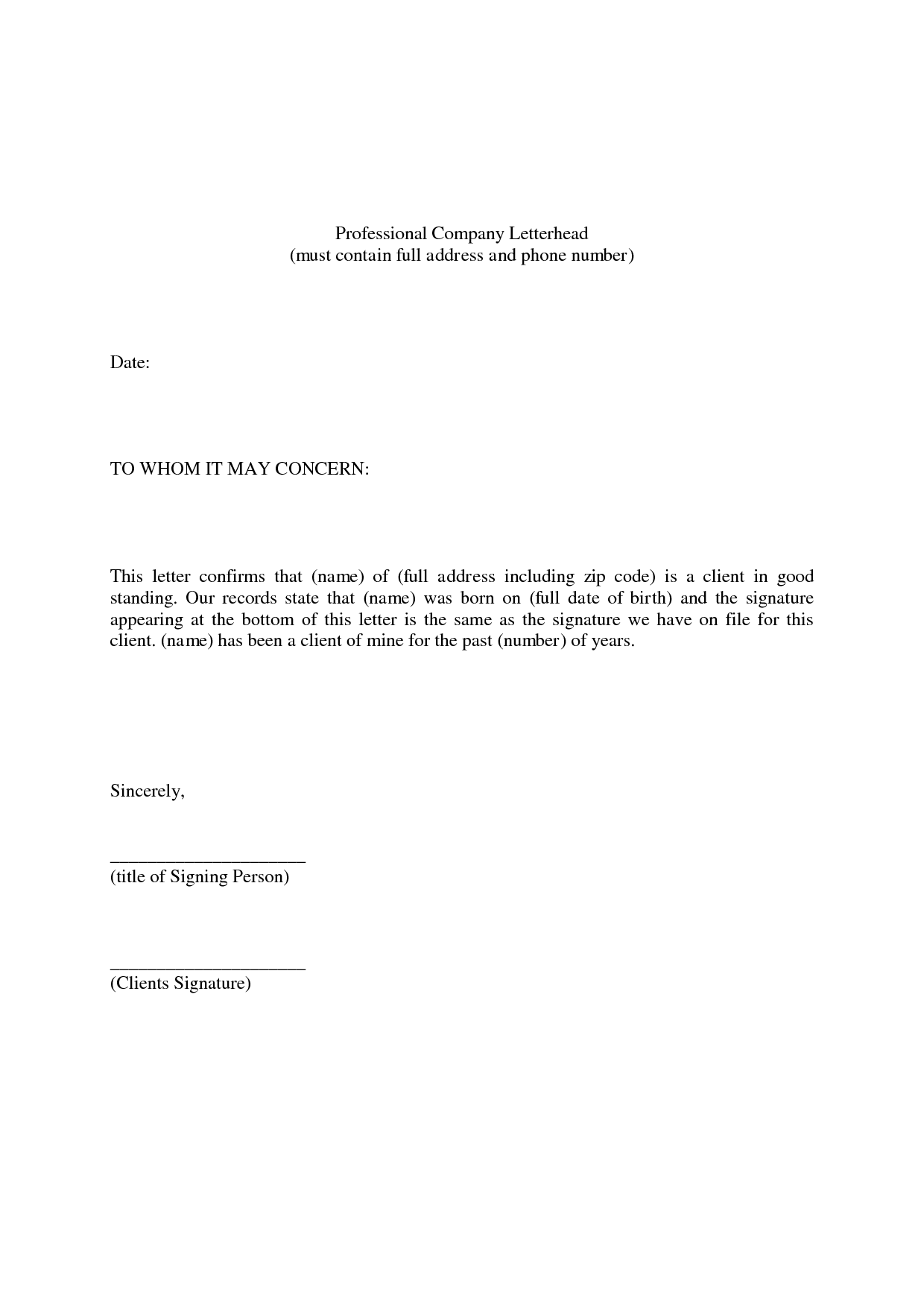 Personal Reference Letter Template Word Letter