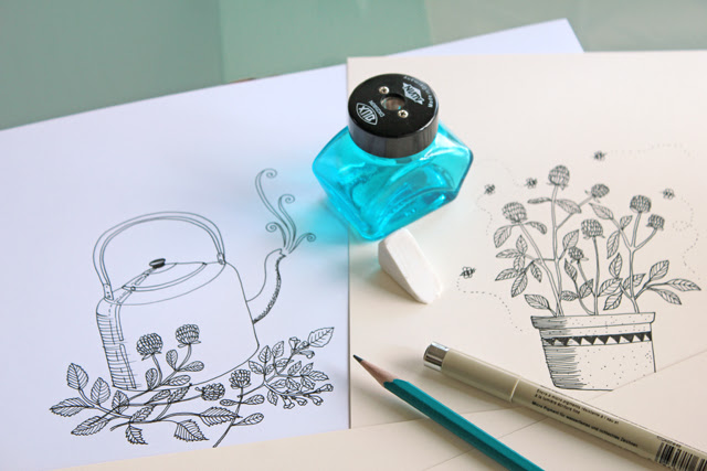 Drawing on my desk