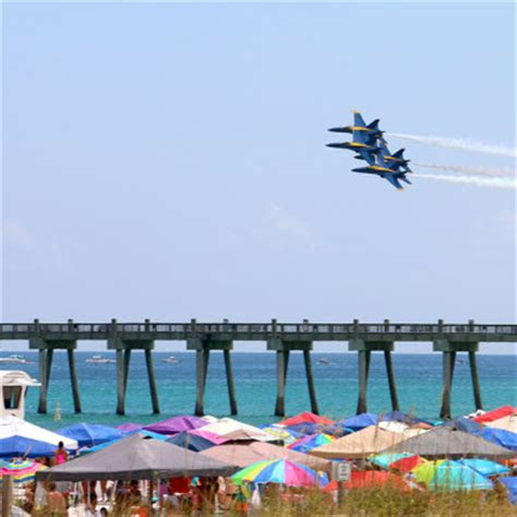 pensacola beach air show pensacola fl hilton local guide