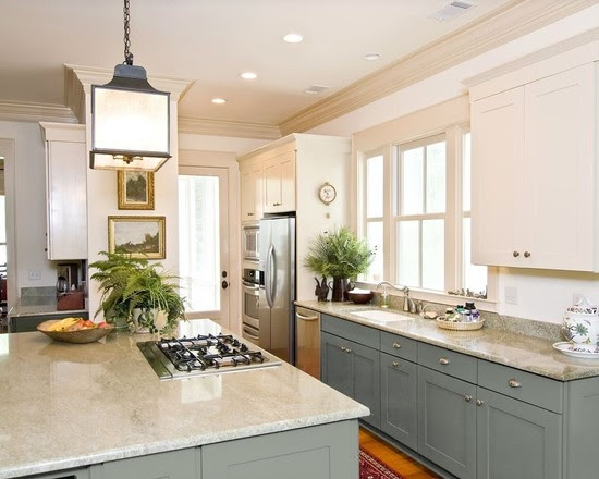 Can You Paint Kitchen Cabinets Two Colors in a Small ...