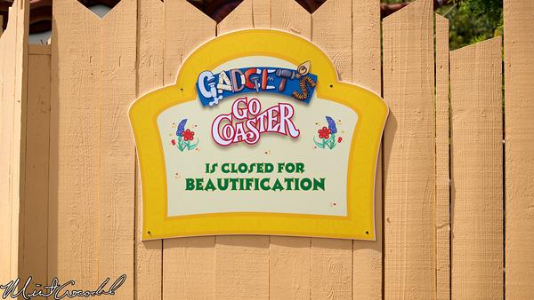 Disneyland Resort, Disneyland, Gadget's Go Coaster, Refurbishment, Refurb