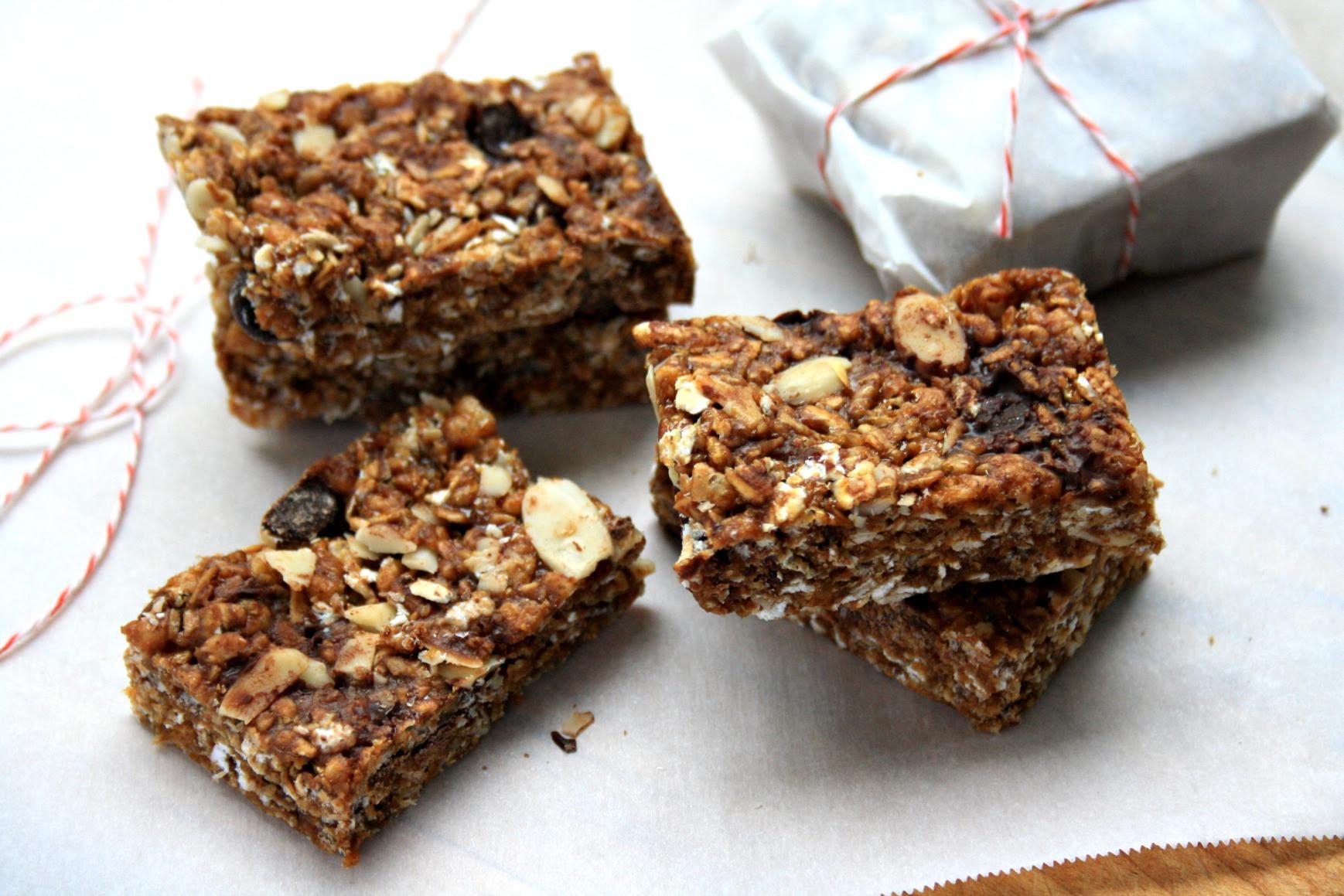 Crispy almond butter granola bars are no-bake and gluten ...