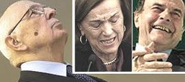 Napolitano, Fornero e Bersani