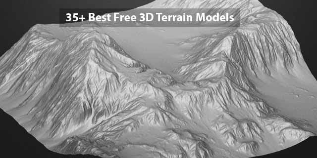 35 Best Free 3d Terrain Models Rockthe3d - free 3d models obj fbx