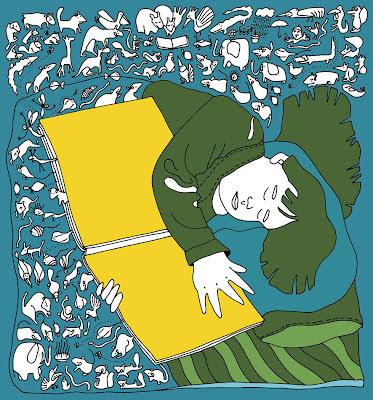 Dreaming between readings / Soñando entre lecturas (ilustración de Pedro Strukelj)
