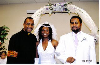 My wedding, officiated by Bishop Charles H. Ellis III