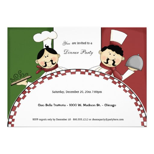 Whimsical Chef Dinner Party Invite from Zazzle.