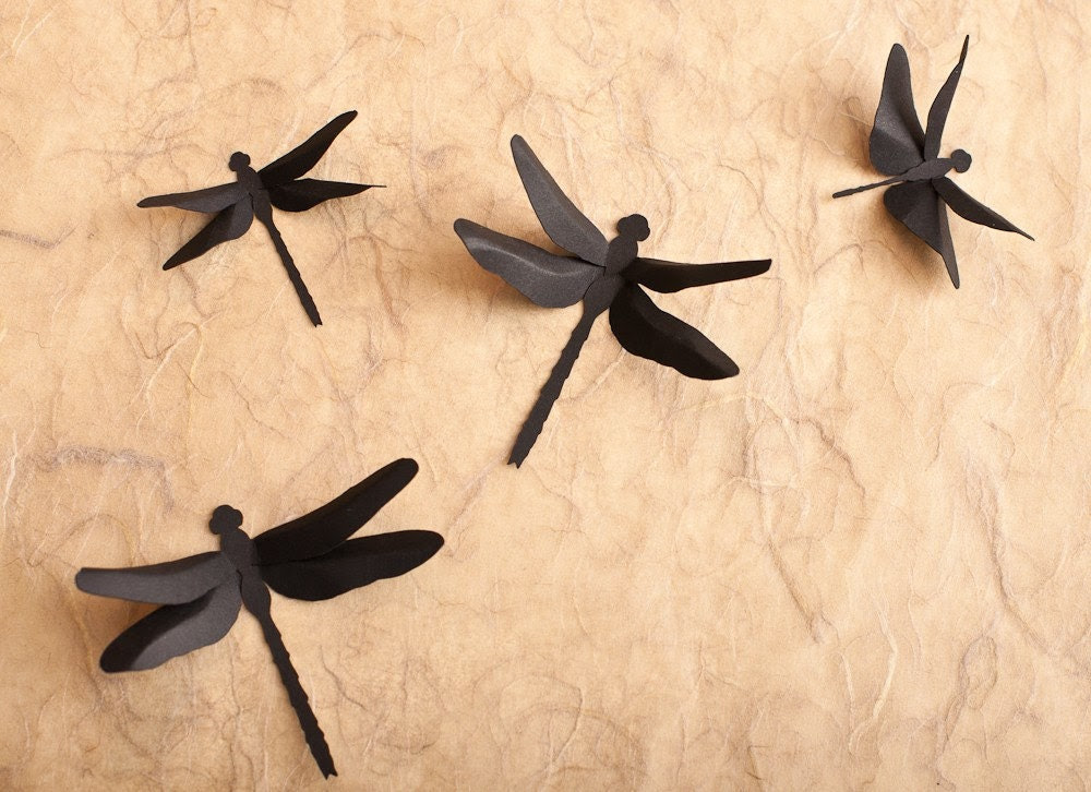 Dragonfly Wall Decor 3D Wall Dragonfly by hipandclavicle on Etsy
