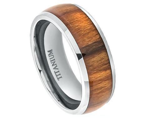 Wood Rings,Titanium Wedding Band,Titanium Ring,Promise