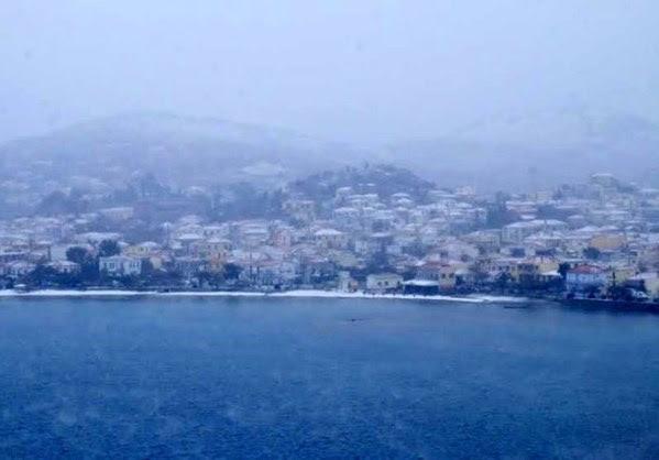 Χιονισμένα Τοπία του Αιγαίου.