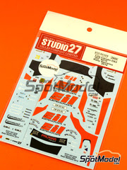 Studio27: Calcas escala 1/24 - Citroen DS3 WRC EIL Nº 210 - Rudy Michelini (IT) + Nicola Angilletta (IT) - Rally de San Remo 2014 - para kits de Heller 80758, 80757