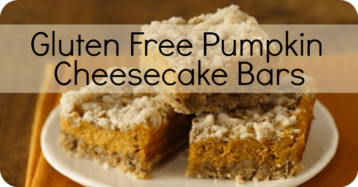 Gluten Free Pumpkin Cheesecake Bars