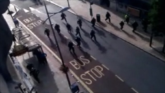 Police tackle large groups in Wolverhampton