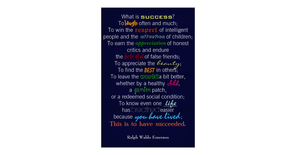 What Is Success By Emerson