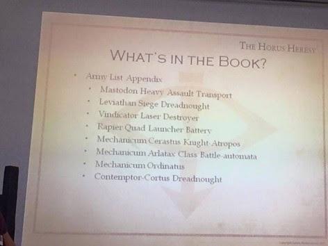 Contenidos del Libro VI de la Herejía de Horus