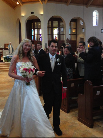 louis and kristin down the isle