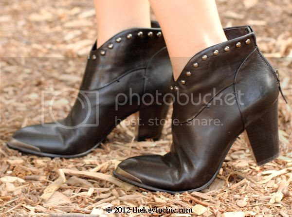 western ankle boots, studded ankle boots, B. Makowsky cowboy booties