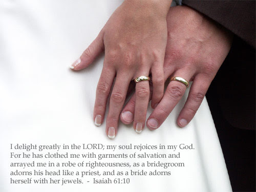Inspirational illustration of Isaiah 61:10