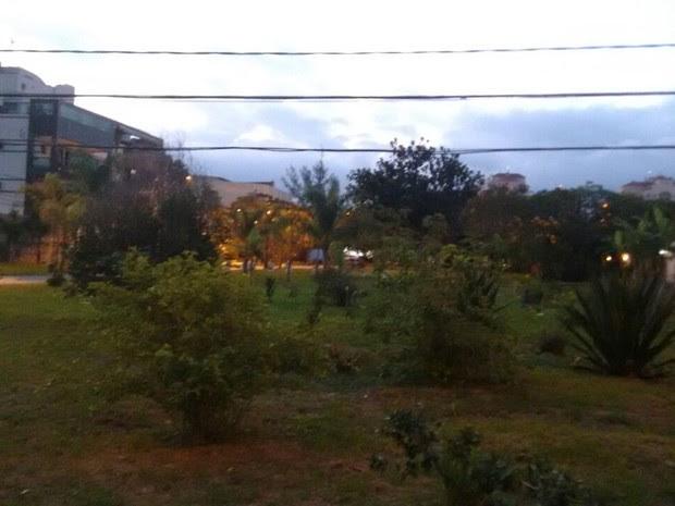 Moradores reclamam da falta de iluminação em local arborizado no Recreio dos Bandeirantes (Foto: G1)