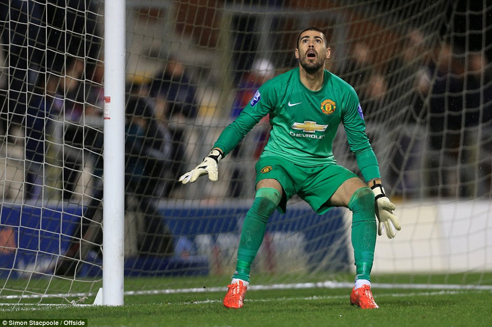 Manchester United keeper Victor Valdes was virtually a spectator until he was beaten byJerome Sinclair's rasping drive