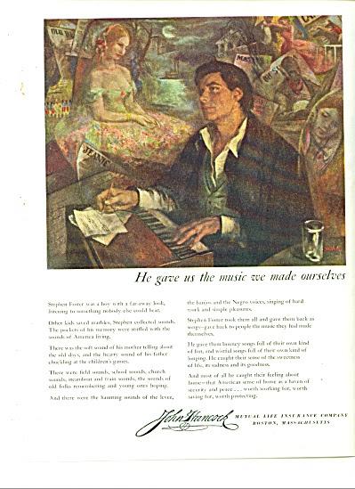 1949 - John Hancock insurance company ad (John Hancock ...