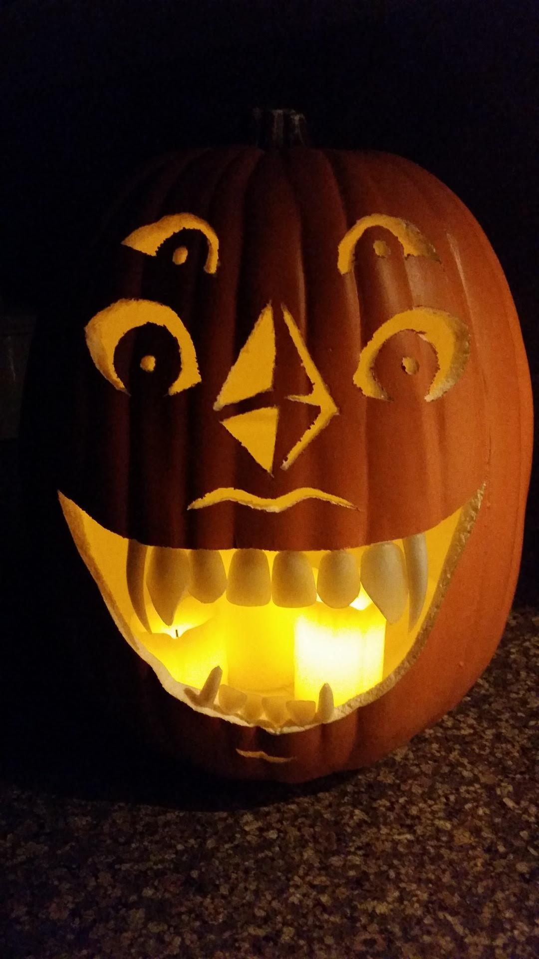 Check out the Malachite jack-o-lantern I made!