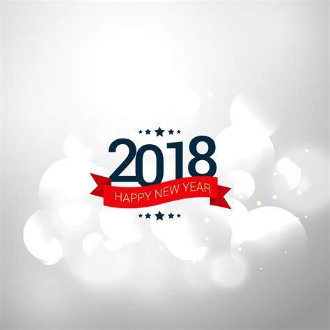 happy new year 2018 elegant greeting card invitation