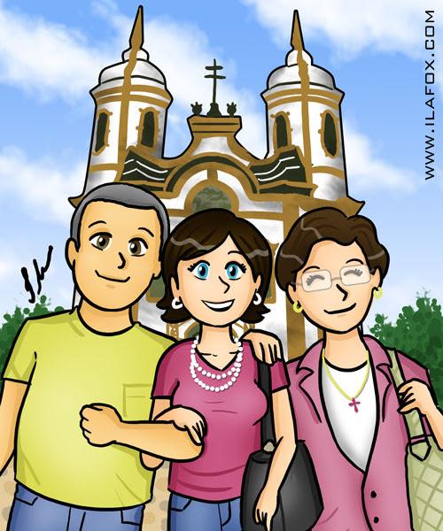 família em ouro preto ilustração by ila fox