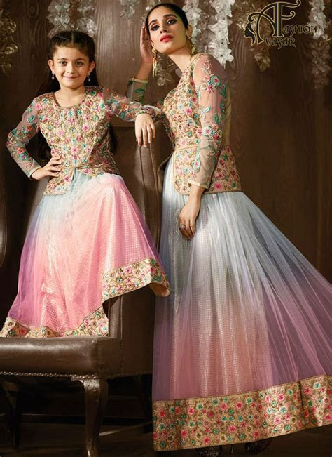 matching outfits Mom and daughter online   Bridal Salwar