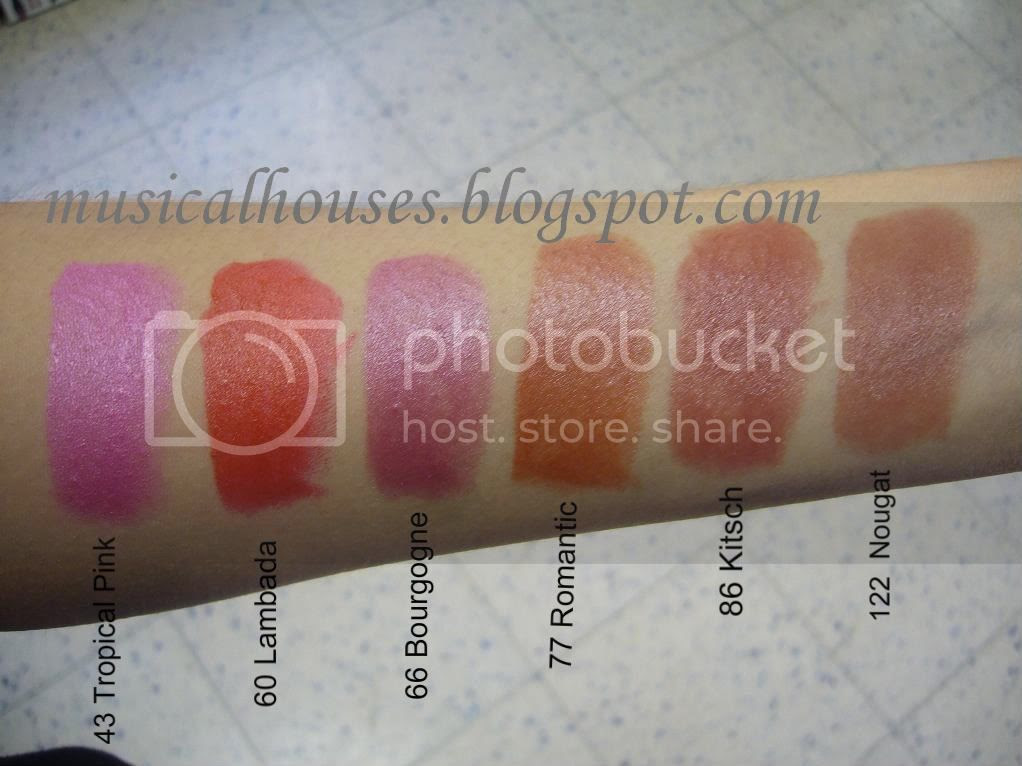 GOSH Lipstick Swatches