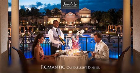 Private Candlelight Beach Dinner for Two   Sandals