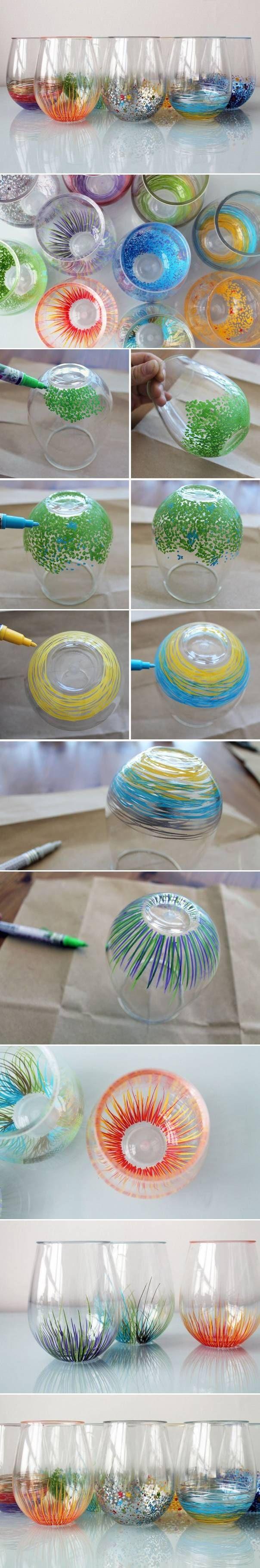 Definitely want to make a set of these. Seems easy! For lasting results, use Sharpie Oil Based Painters. @Stefanie W W W W W W W W W Soy