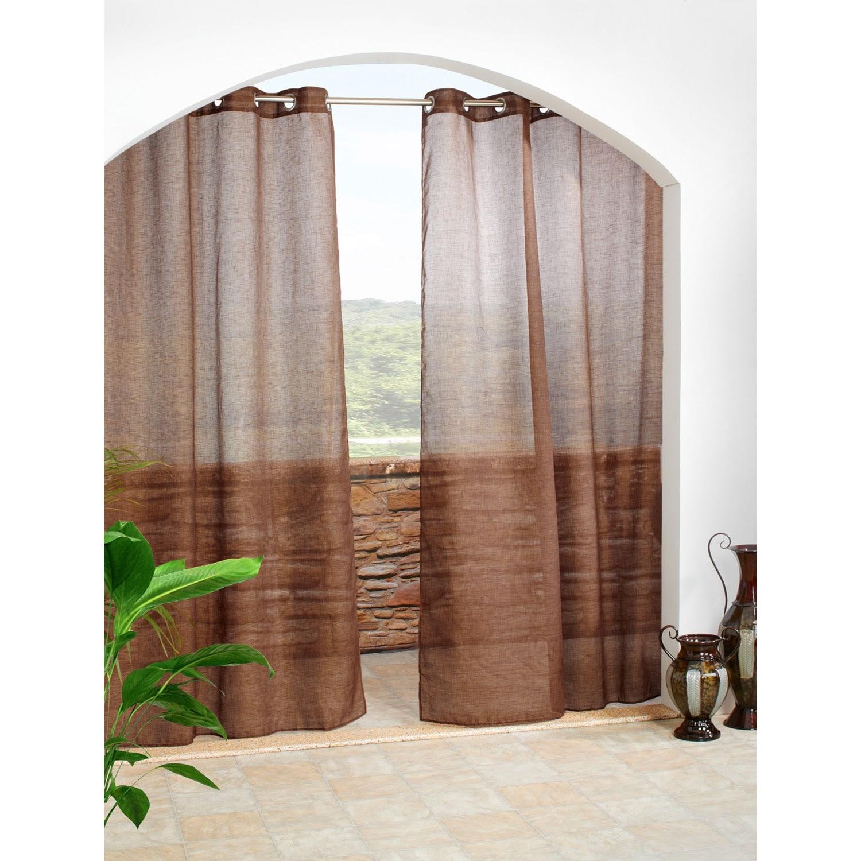 Outdoor Decor Cote D'Azure Semi-Sheer Indoor/Outdoor Curtains