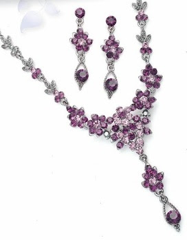 Purple Amethyst Jewelry for Prom or Wedding! affordableelegancebridal.com