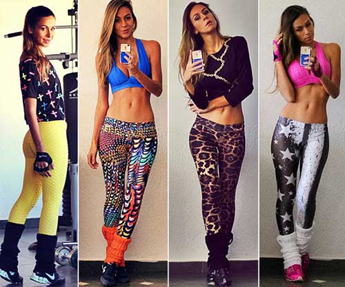 como usar legging colorida