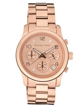 Image 1 of Michael Kors Rose Gold Plated Chronograph Watch