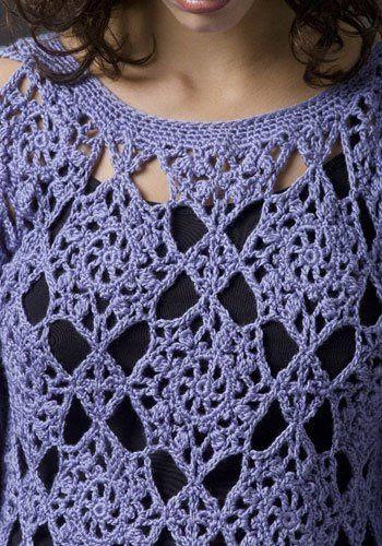 violet tunic ...