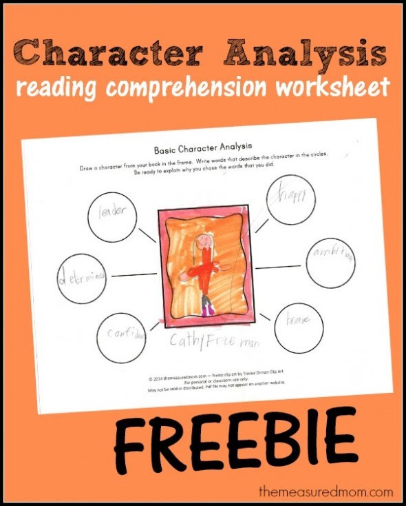 character analysis reading comprehension worksheet 590x734