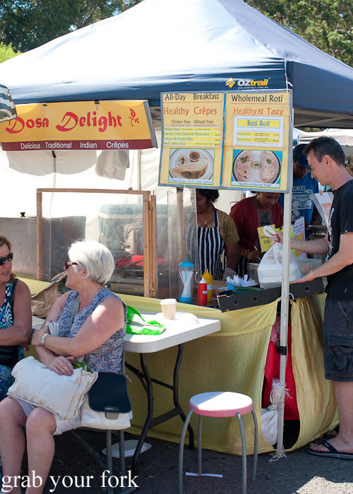 Dosa Delight roti and crepes at Frenchs Forest Organic Food Market