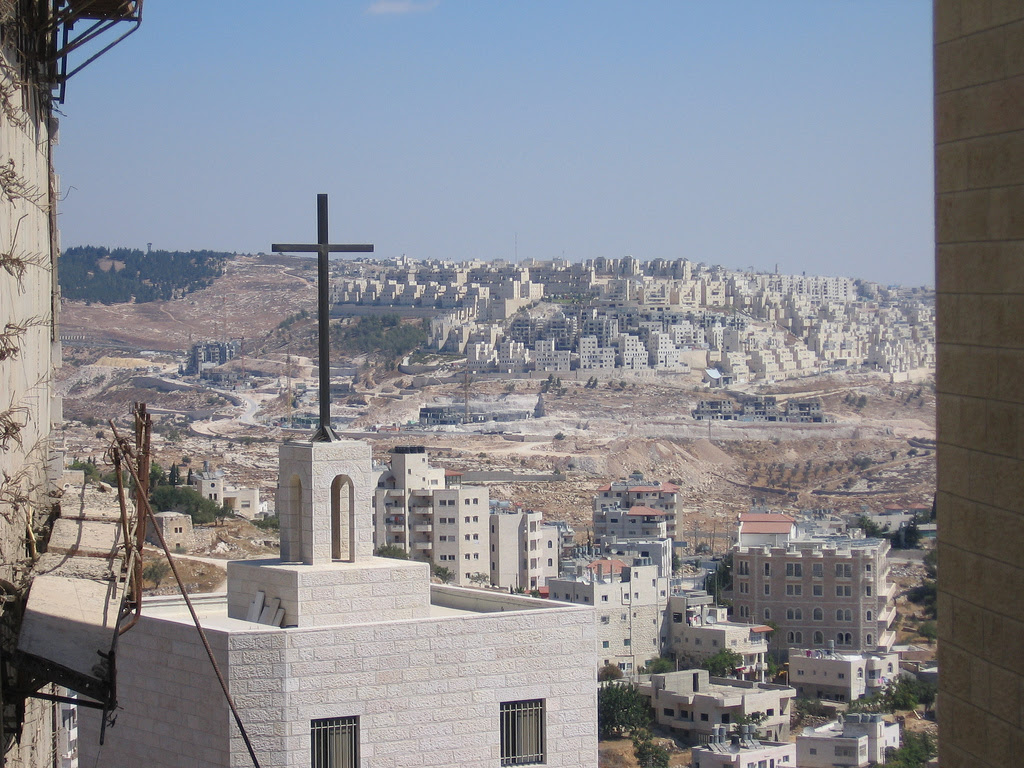 Har Homa (<B><font size=2>Exclusive Jewish Colony</font></B>): General view taken from Bethlehem #2