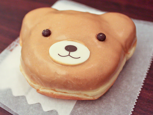 Almond cream bear donut